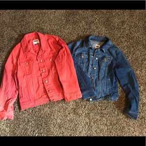 Women's size large old navy jean jackets